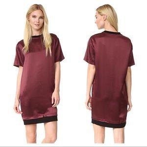 Public School Kassidy burgundy silk dress